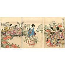 豊原周延: Chrysanthemum picnic - Japanese Art Open Database