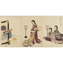 Toyohara Chikanobu: Day Before Spring — Setsubun - Japanese Art Open Database