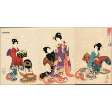 豊原周延: Dressing in a Kimono - Japanese Art Open Database