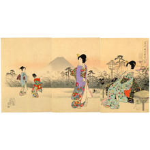 Toyohara Chikanobu: Evening Cool in Fukiage - Japanese Art Open Database