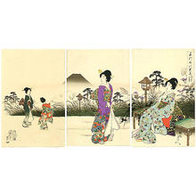 豊原周延: Evening Cool in Fukiage - Japanese Art Open Database