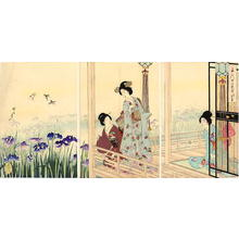 豊原周延: Iris Garden - Japanese Art Open Database