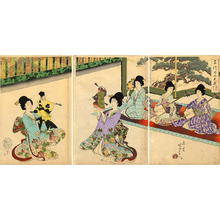 Toyohara Chikanobu: Puppet Theatre - Japanese Art Open Database
