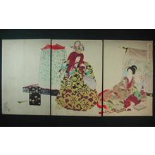 Toyohara Chikanobu: Scene of Mikagura — 御神楽図 - Japanese Art Open Database