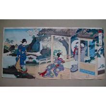 Toyohara Chikanobu: Elegant Gathering in the West Garden — 西園雅集 - Japanese Art Open Database