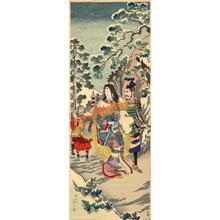 渡辺延一: Empress Jingo- Takeuchi no Sukune on her journey - Japanese Art Open Database