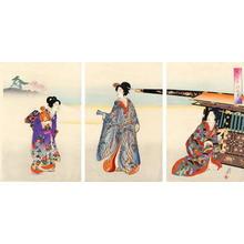 豊原周延: Going Out in the Finery- Meiji Beauties - Japanese Art Open Database