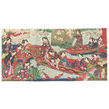 Toyohara Chikanobu: Pleasure Boat - Japanese Art Open Database