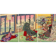Toyohara Chikanobu: Poems after Snow - Japanese Art Open Database