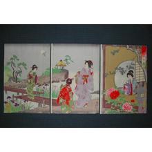 豊原周延: Shoka no Sono -A scene of the garden in the early summer — 初夏の園 - Japanese Art Open Database