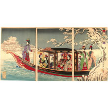 Toyohara Chikanobu: Snow Viewing at Sumida - Japanese Art Open Database