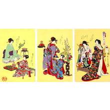 豊原周延: Preparations for the Dolls Festival - Japanese Art Open Database