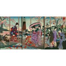 豊原周延: Unknown- garden in spring - Japanese Art Open Database