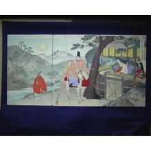 Toyohara Chikanobu: Unknown- horseman playing flute — 弾正小弼中国、嵯峨ニ至 - Japanese Art Open Database