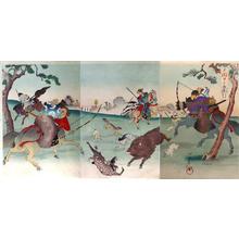 Toyohara Chikanobu: Hunting at Koganegahara - Japanese Art Open Database