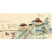 豊原周延: Observing the hunt in Kogane-ga-hara - Japanese Art Open Database
