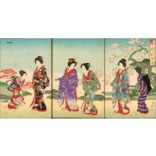 Toyohara Chikanobu: Unknown- Garden in Spring - Japanese Art Open Database