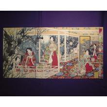 Toyohara Chikanobu: Plum Garden Moon — 梅園之月 - Japanese Art Open Database