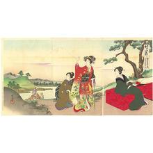 豊原周延: Chushingura 8th Act- Michiyuki- Journey - Japanese Art Open Database
