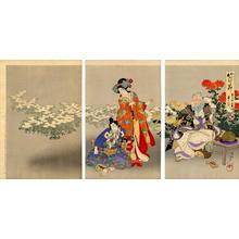 Toyohara Chikanobu: The Chrysanthemum Garden - Japanese Art Open Database