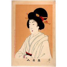 豊原周延: Unknown, beauty in black - Japanese Art Open Database