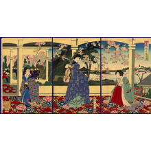 Toyohara Chikanobu: Viewing Cherry Blossoms at Ueno — 上野櫻花観遊図 - Japanese Art Open Database