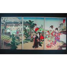 Toyohara Chikanobu: Elegant Gathering in the Western Garden — 西園雅集- せいえんがしゅう - Japanese Art Open Database