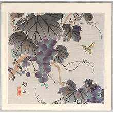 Nagamachi Chikuseki: Grape and Wasp - Japanese Art Open Database