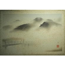 Domoto Insho: Sanjo Bridge in Mist - Japanese Art Open Database