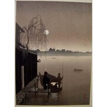 Eijiro Kobayashi: Summer Evening on the Sumida River - Japanese Art Open Database