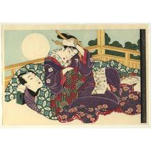 Keisai Eisen: A Full Moon - Japanese Art Open Database