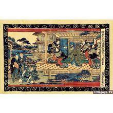 Keisai Eisen: Act 7, Ichiriku Geisha House - Japanese Art Open Database