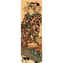 Keisai Eisen: Kakemono-e: Courtesan on Parade - Japanese Art Open Database