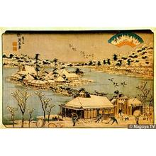 Keisai Eisen: Snow Overnight at Shinobugaoka - Japanese Art Open Database