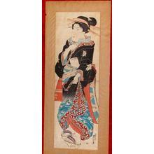 渓斉英泉: Unknown- bijin kakiemono-e - Japanese Art Open Database