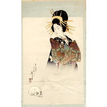 Tomioka Eisen: Bijin Ghost and Skull - Japanese Art Open Database