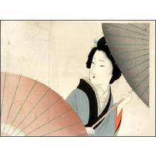Tomioka Eisen: Bijin and Umbrella - Japanese Art Open Database