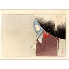 富岡英泉: Snowy Day - Japanese Art Open Database