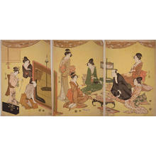 細田栄之: Amusements on a Summer Evening — 夏宵遊興図 - Japanese Art Open Database