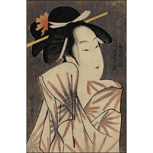 Chokosai Eisho: Elegant courtesan Kasugano of Sasa-ya - Japanese Art Open Database