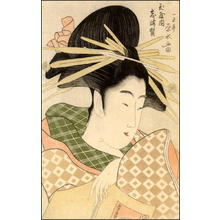 Eisui Ichirakusai: The courtesan Shizuka from the greenhouse Tama-ya - Japanese Art Open Database