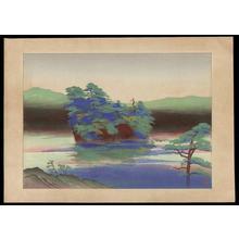 Endo Kyozo: Lake Towada - Japanese Art Open Database