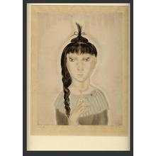 Foujita Tsuguji: Girl with Braid - Japanese Art Open Database