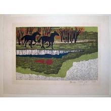 Kitaoka Fumio: Galloping Horses - Japanese Art Open Database
