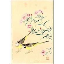 Fukuda Suiko: Pinks and Yellow Birds - Japanese Art Open Database