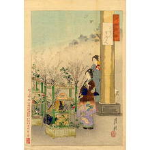 尾形月耕: Garden Centre - Japanese Art Open Database