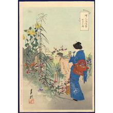 Ogata Gekko: Seven flowers and plants of autumn — 七花の園 - Japanese Art Open Database