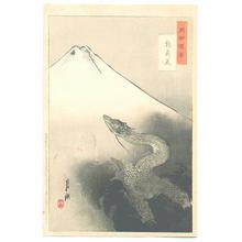 尾形月耕: Ryu Shoten, Mt. Fuji and Dragon — 龍昇天 - Japanese Art Open Database