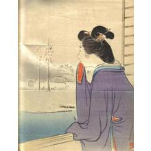 Ogata Gekko: Bijin and Winter Landscape - Japanese Art Open Database