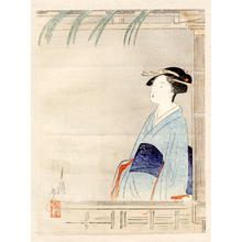 Ogata Gekko: Bijin at a Window - Japanese Art Open Database